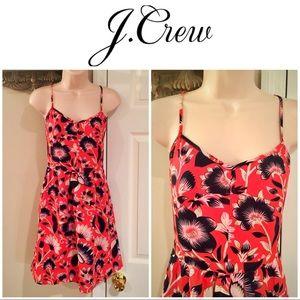 J crew navy & coral floral sundress. NWOT